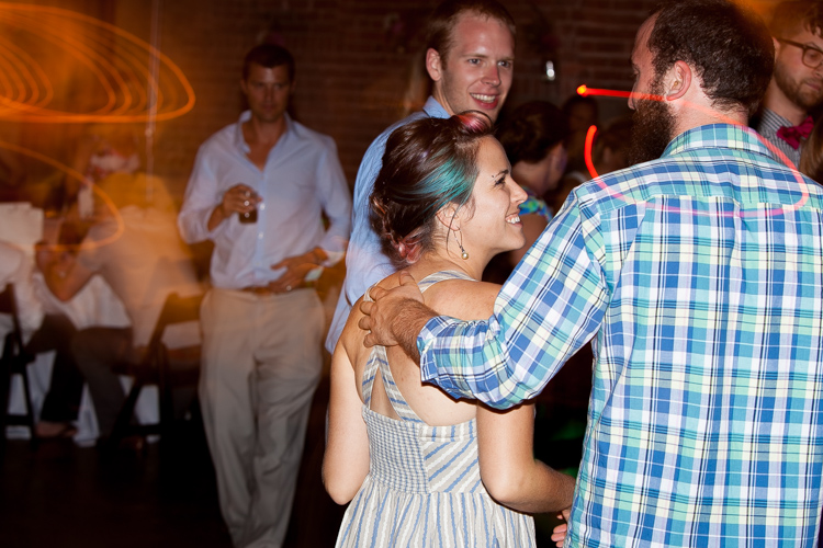 wedding guests dancing at reception at melrose market