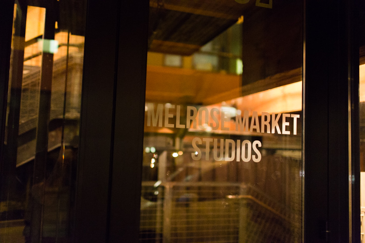 melrose market studio wedding reception