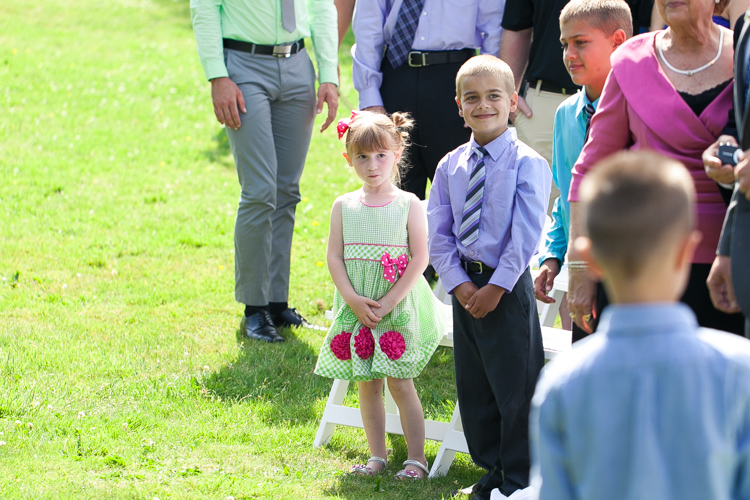 cute kids at wedding ceremony