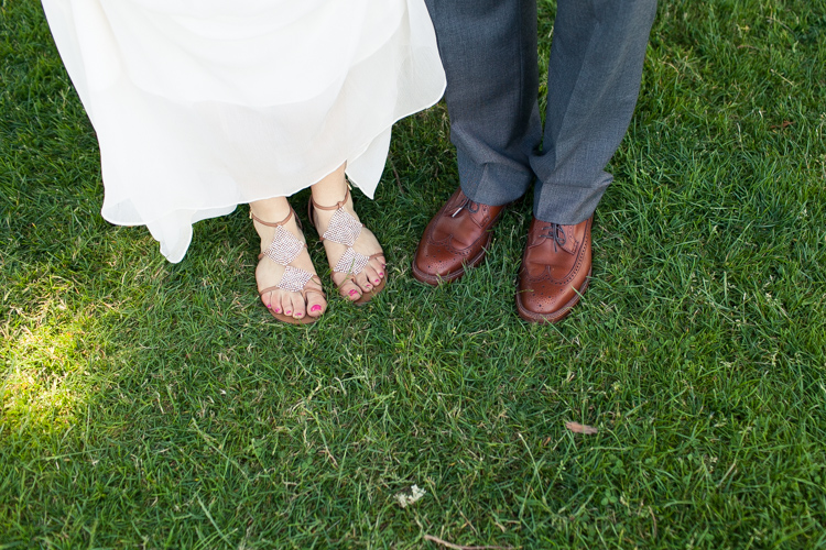 bridal sandals and fancy groom shoes