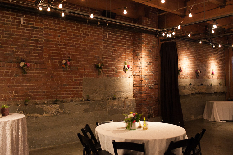 Melrose Market Studio Vintage style wedding reception