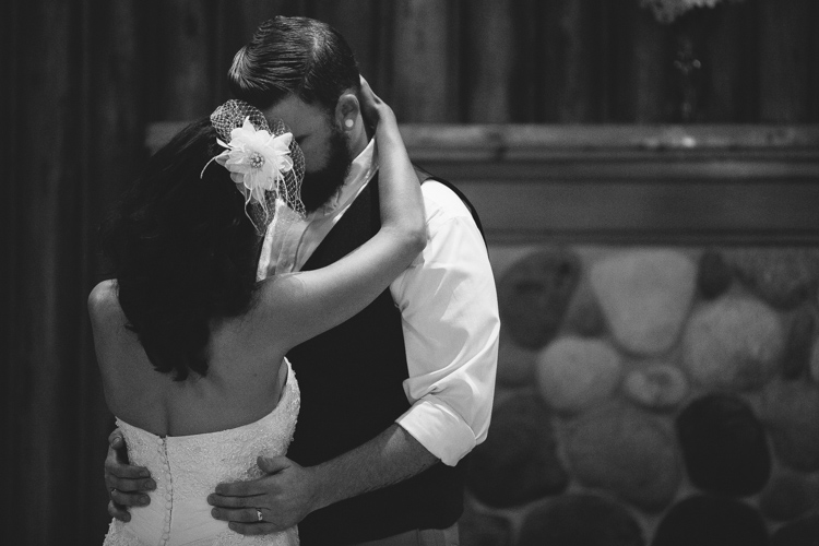 sweet moment during first dance