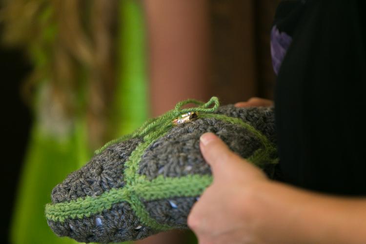 crochet ring pillow