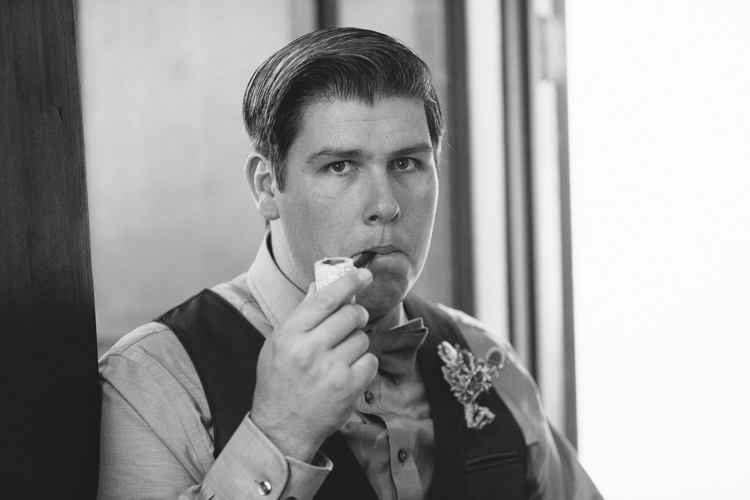 corn cob pipe groomsman