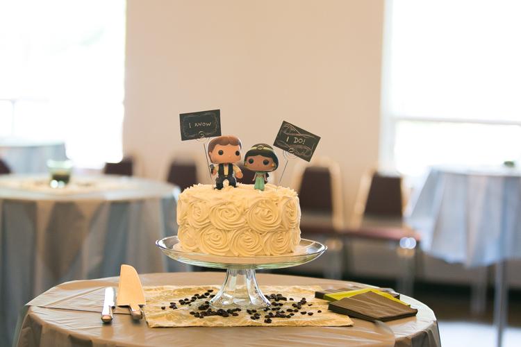 han solo and jasmine wedding cake