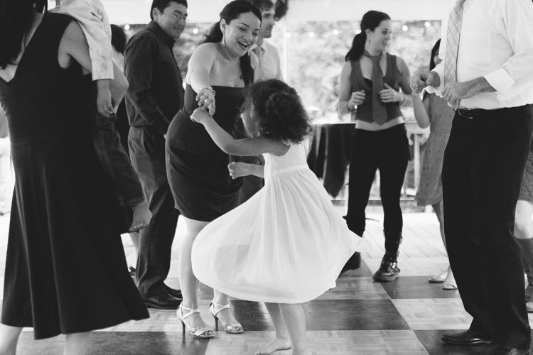 little girl twirling dancing wedding reception