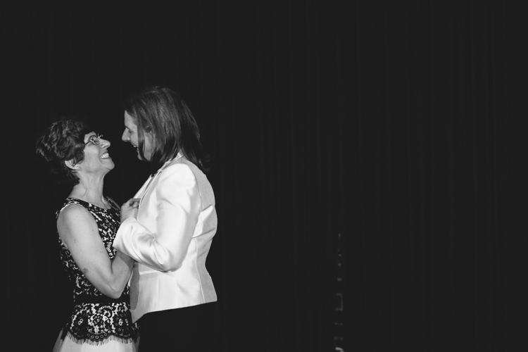 palace ballroom wedding brides dancing lesbian wedding gay wedding seattle first dance