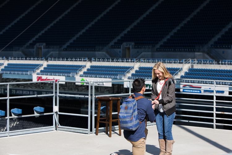 proposing in century link field seattle