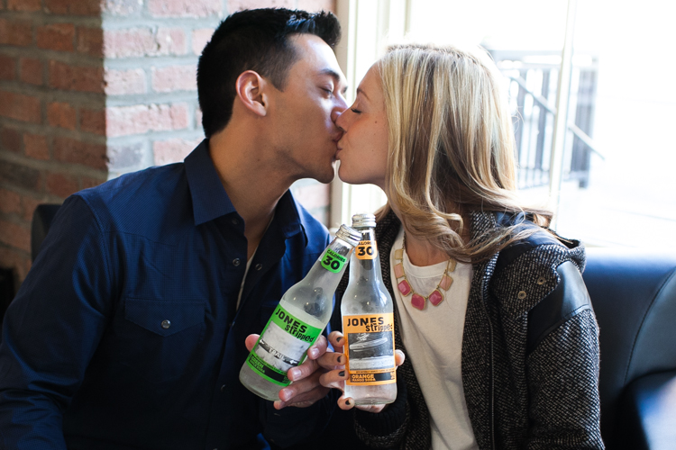 jones soda engagement photography