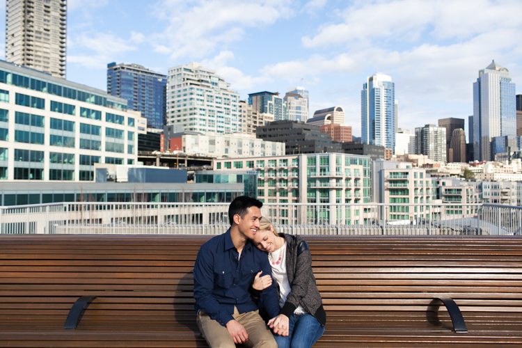 seattle downtown engagement photography