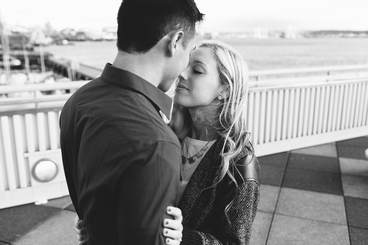 black and white photography engagement