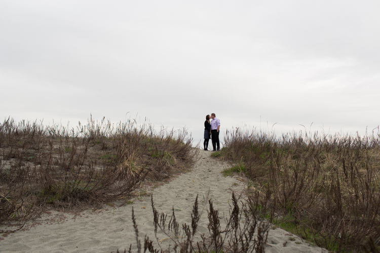 tall grass beach engagement photography