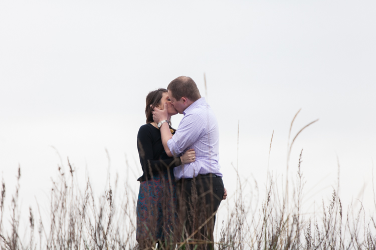 tall grass engagement photography