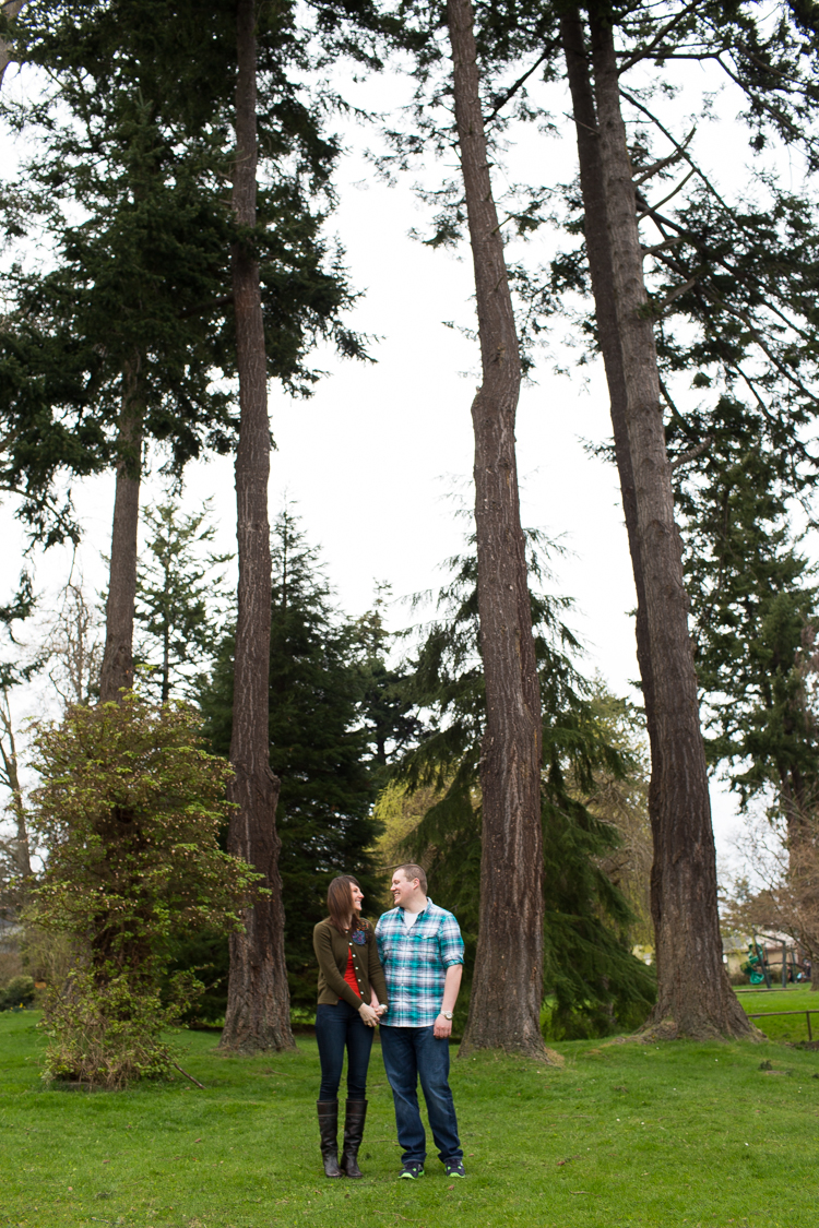 portrait shot engagement photography trees