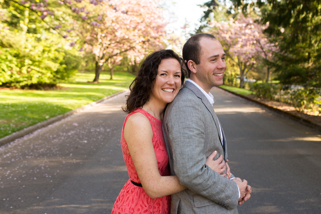 spring engagement session seattle