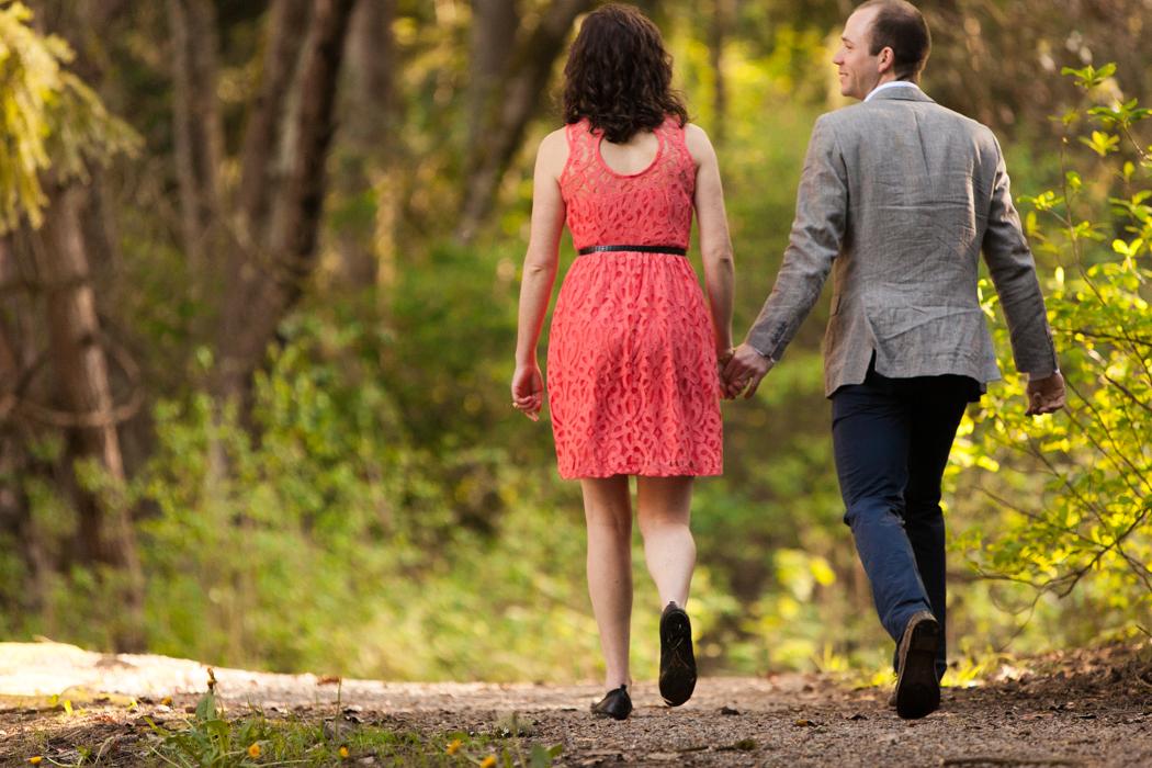 couple walking together seward park
