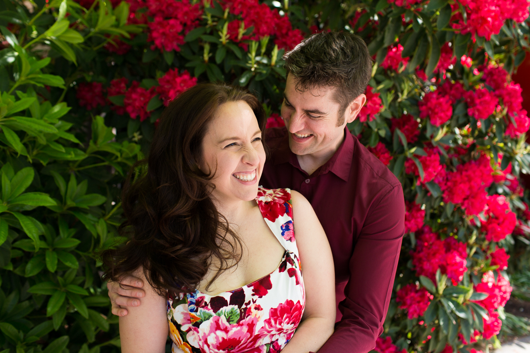 beautiful floral spring engagement session