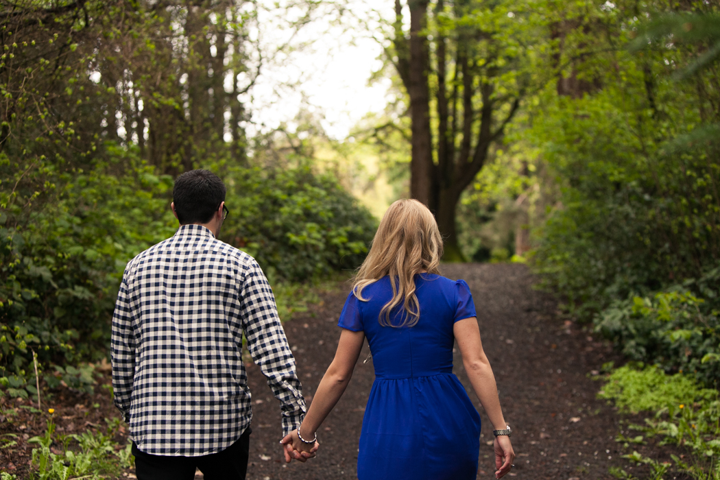couple walking together in a park