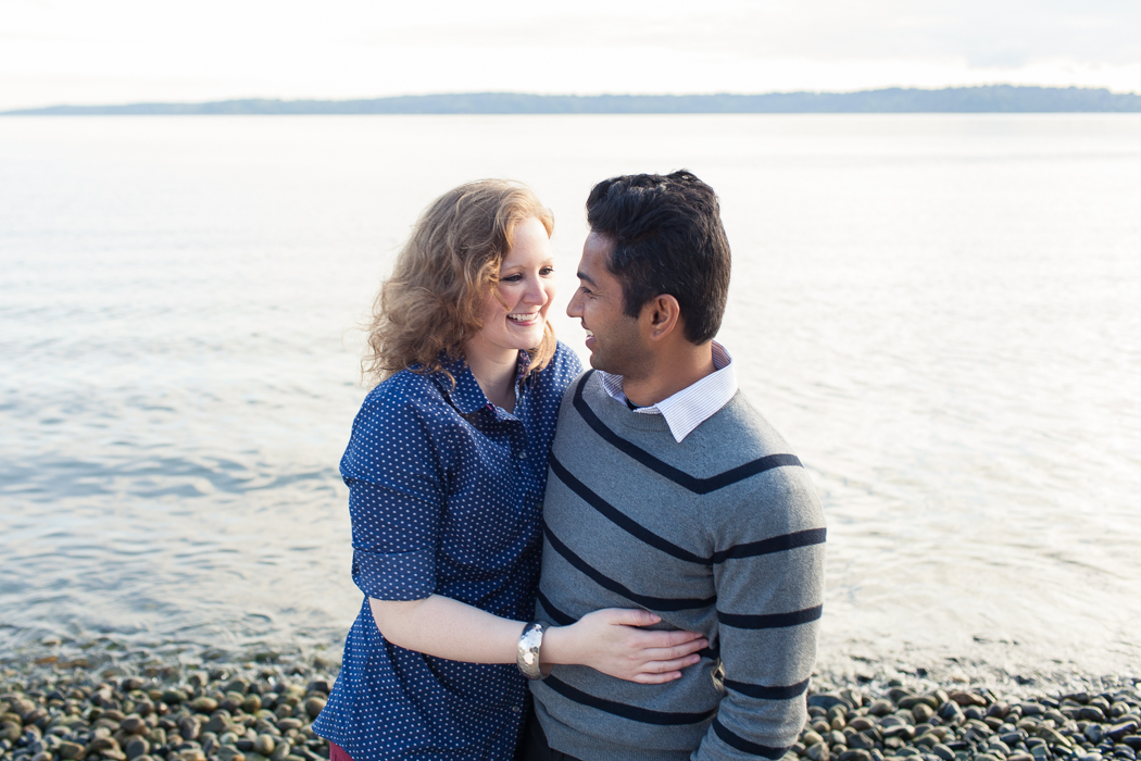 beach engagement seattle