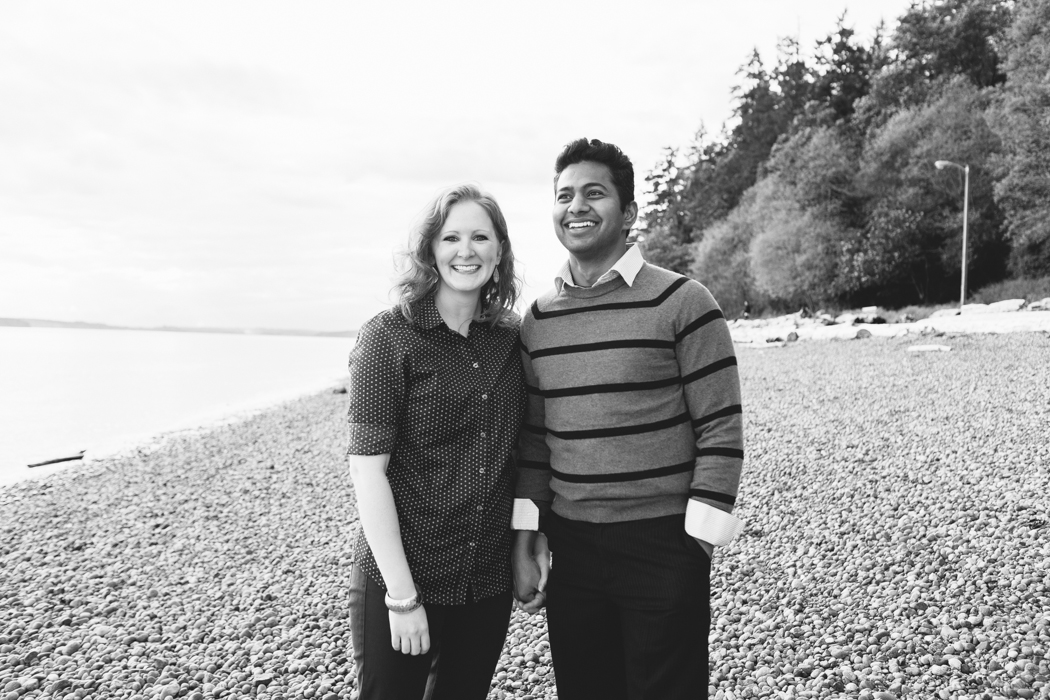 beach engagement lincoln park seattle