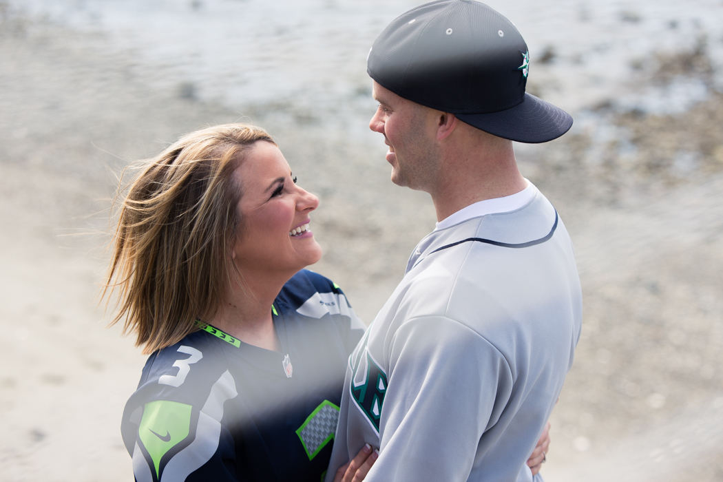 seahawks jersey engagement photography