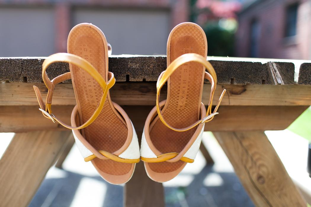 wedding shoe photography