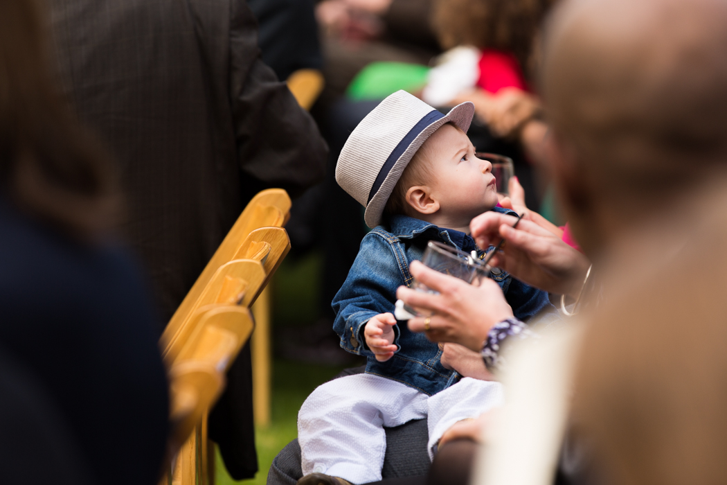 little boy at ceremony