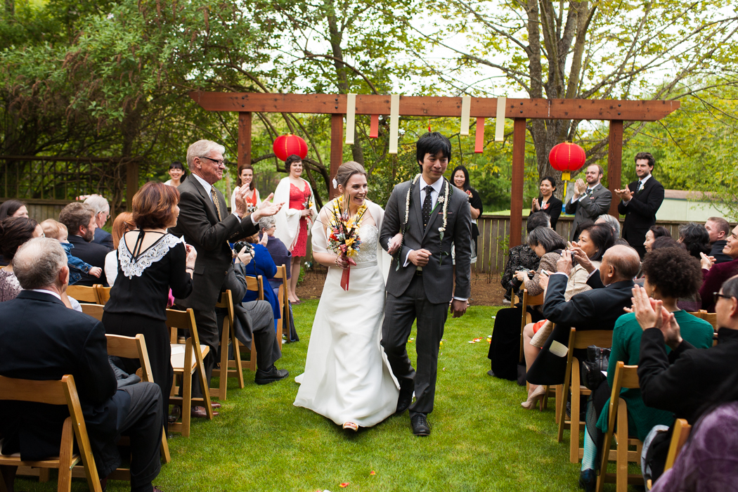 recessional wedding photography