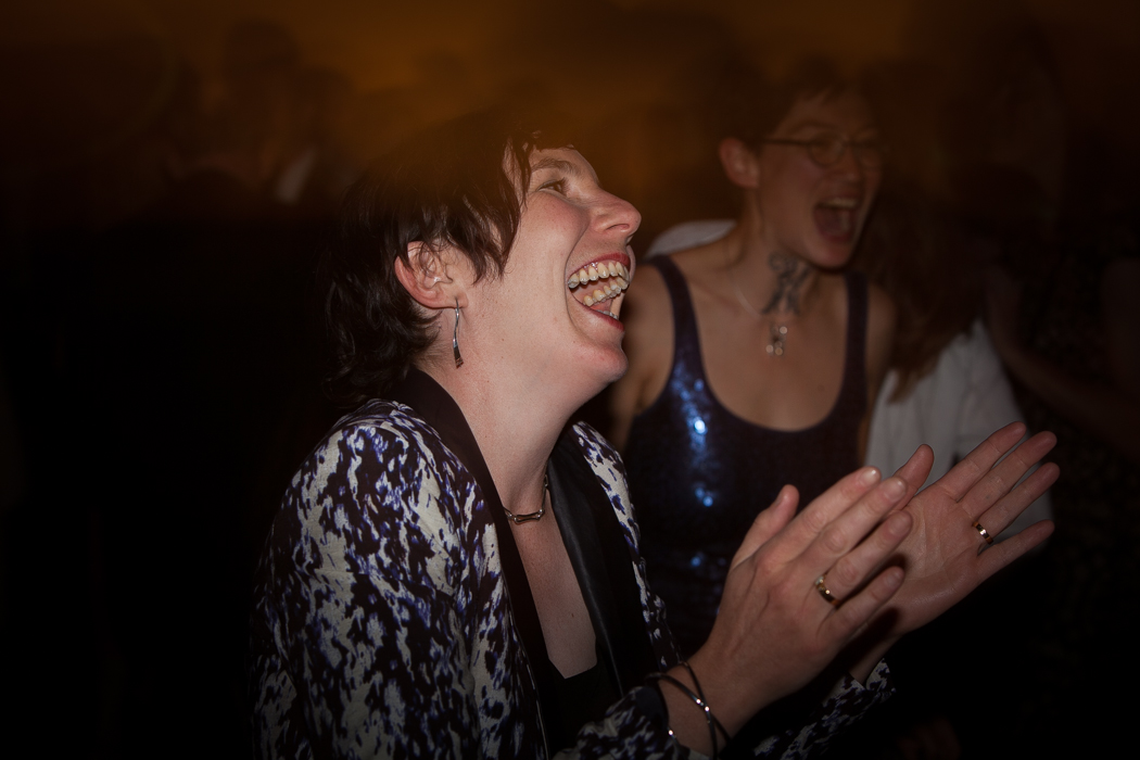guest laughing reception