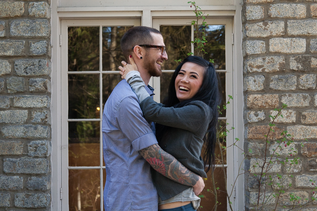 adorable tattooed couple