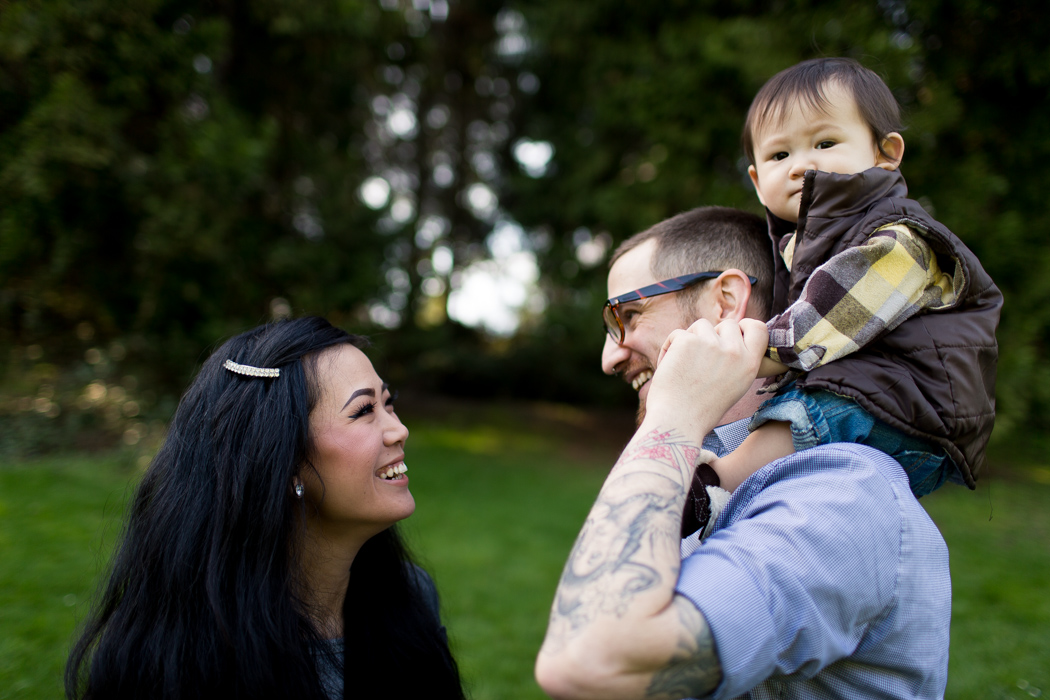 tattooed parents family photography