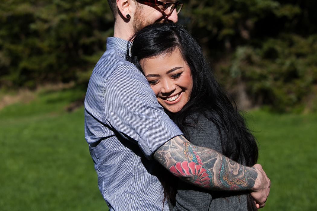 tattooed engagement photography seattle