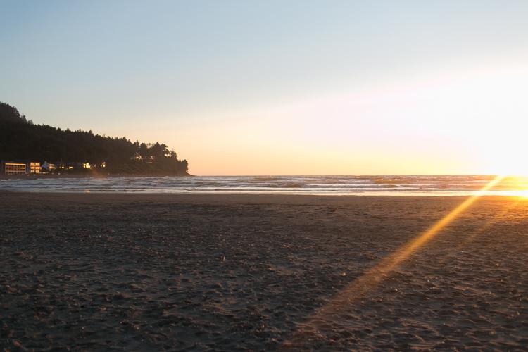 sunset seaside oregon