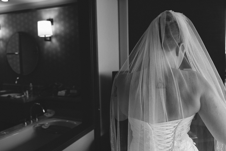 black and white photography bride veil