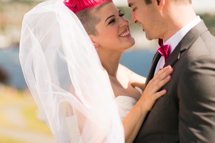 pink hair bride seattle