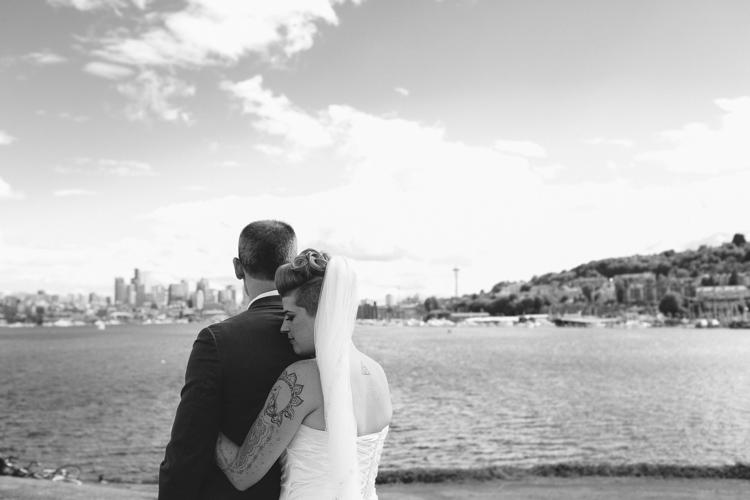 seattle skyline wedding photography