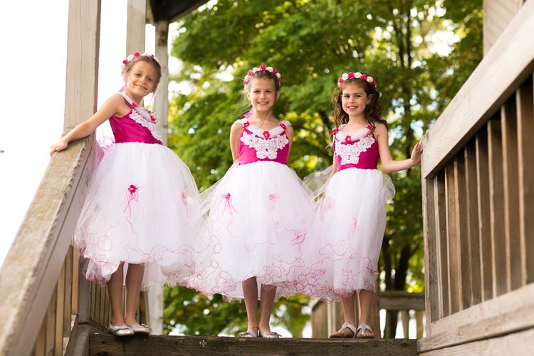flower girls pink