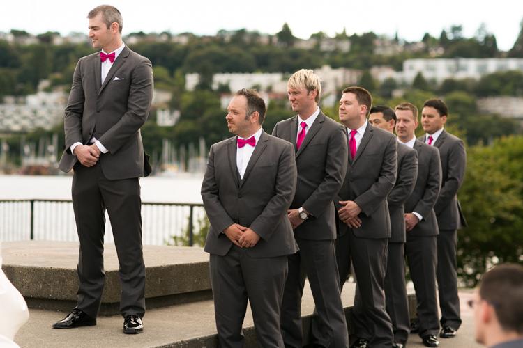 groomsman hot pink ties