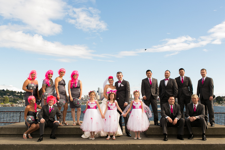 wedding party photography seattle