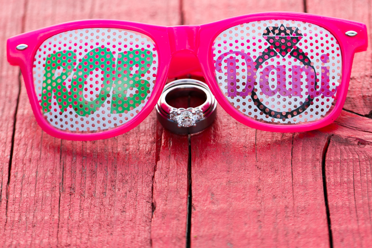 wedding sunglasses, creative wedding ring photography