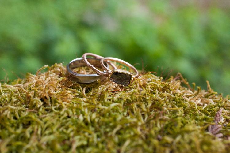 asymetrically cut diamond ring, natural nature wedding ring photography, twig wedding band Twist Seattle