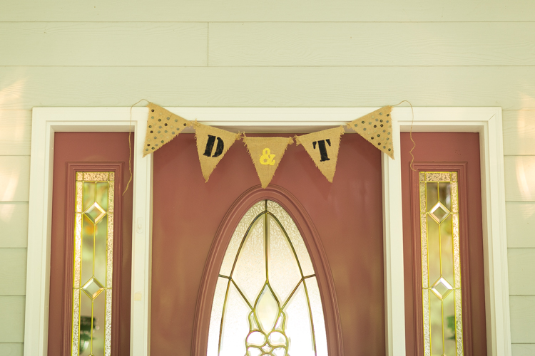 wedding banner burlap