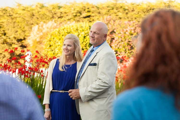 parents of the bride at ceremony
