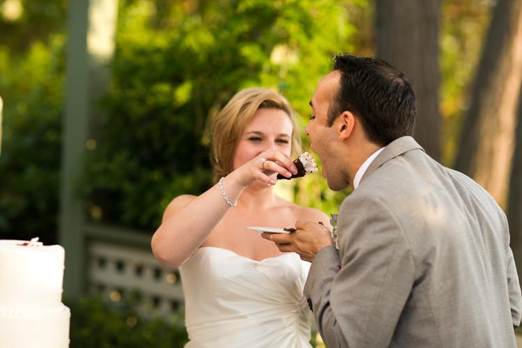 groom being fed cake