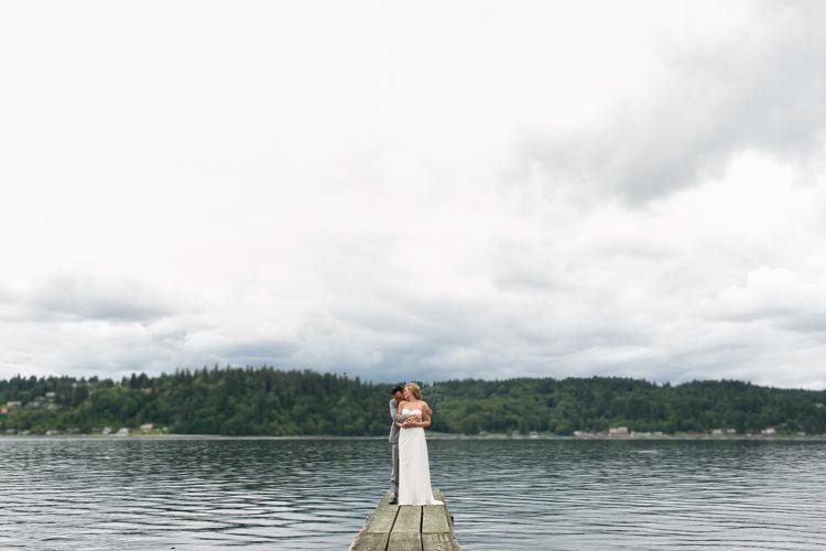 bride and groom formals pier