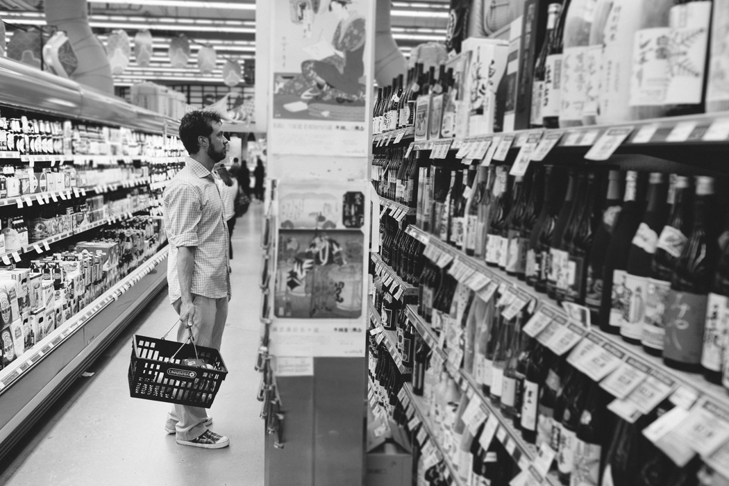 shopping for groceries
