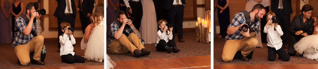kid photographing wedding, seattle wedding photographer