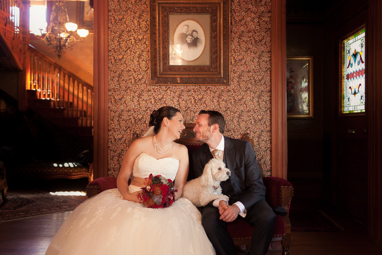 classic wedding photography with dog