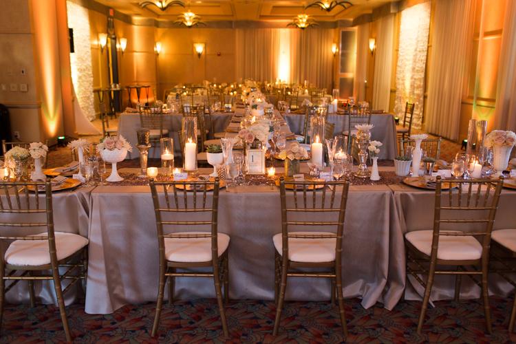 vintage gold art deco reception, hassayampa reception hall