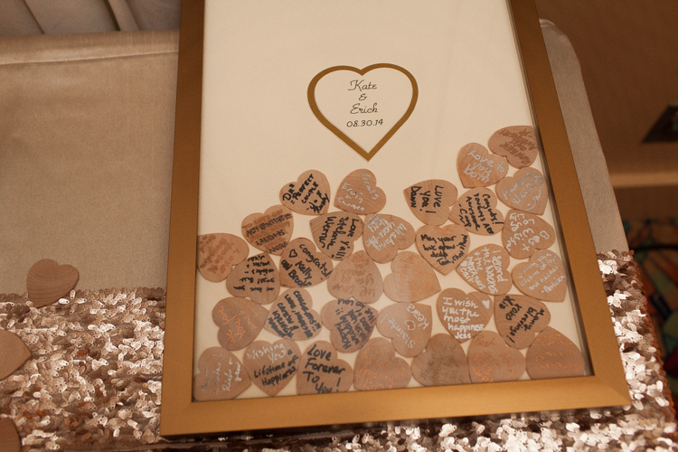 wood heart signing picture frame